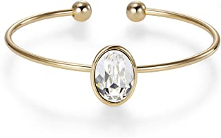 Mestige MSBR3324 Gold Plated Bailey Bangle for Women