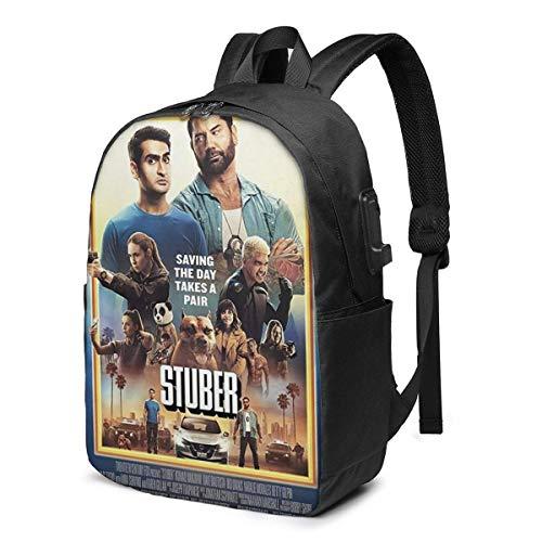 AOOEDM USB Backpack 17 in Stuber USB Backpack 17-Inch Laptop Backpack Adjustable Shoulder Strap Men and Women Large School Bag
