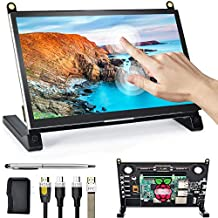 Lebula Raspberry Pi Monitor-Upgraded, 7'' IPS Touchscreen with Dual Speakers, USB Small Monitor 1024X600 PI Display, Compatible with Nintendo Switch, Raspberry Pi 4/3/2/Zero