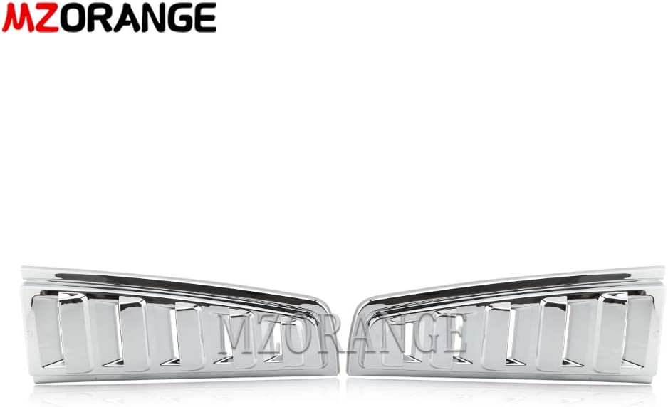 Clidr Rear safety Upper Tail Light Lamp Chrome Vent Trim fo Guard Cover 5 ☆ popular