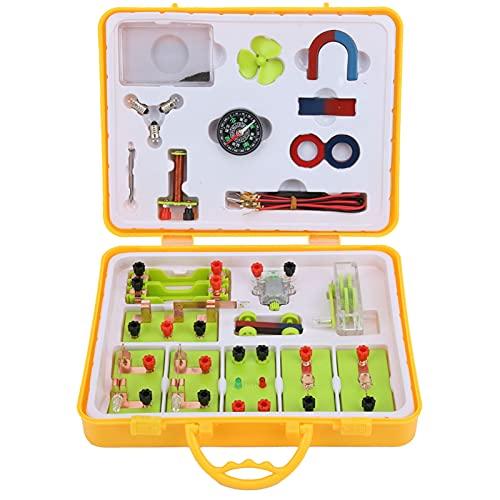 Kit de aprendizaje de magnetismo de electricidad, kit de aprendizaje de proyectos de ciencias, generador de manivela manual, juguetes de habilidades para la vida para estudiantes de escuela primaria