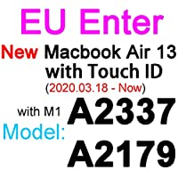 for for for MacBookPro用シリコンキーボードカバー1315 16 17 Retina Touch Air 13 1211透明クリアTPUEU US A2179 A22892020フィルム -EU 2020 New Air 13