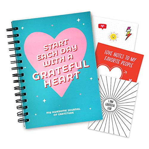 Girls Gratitude Journal for Kids, Teens - 100 Page Diary With Writing Prompts. Affirmation Journal Includes Stickers & Unique Gratitude Poster. Gifts Ideas for 10 11 12 Teenage. Stuff for Teens