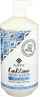 ALAFFIA EVERYDAY SHEA CONDITIONER - Normal to Very Dry Hair, Moisturizing Support to Balance pH for Protected, Luxurious Locks with Shea Leaf and Butter, Fair Trade, UNSCENTED, 32 Ounces