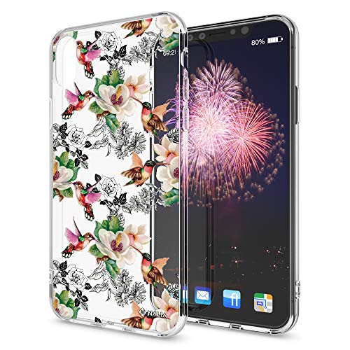 Preisvergleich Produktbild NALIA Hülle kompatibel mit iPhone XS Max,  Handyhülle Slim Silikon Crystal Case Cover,  Schutzhülle Dünn Durchsichtig Transparent,  Etui Handy-Taschen Backcover Bumper,  Designs:Kolibri
