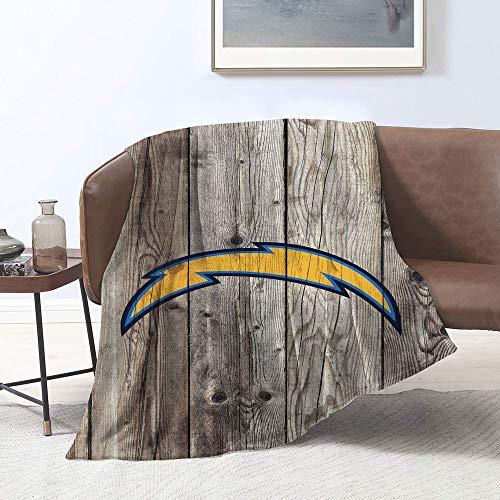 Manta de felpa para sofá, cama, sofá, silla, diseño de equipo de fútbol americano Los-Ang-eles-Ch-argers, perfecta para sofá o viaje tamaño individual (152,4 x 203,2 cm)