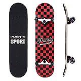 NACATIN Planche à roulettes Skateboard Pour Les Enfants, Jeunes et Adultes avec des roulements à billes ABEC-9, 92A Anti-dérapant Lisse,muet funboard de roue pour les débutants (rouge)