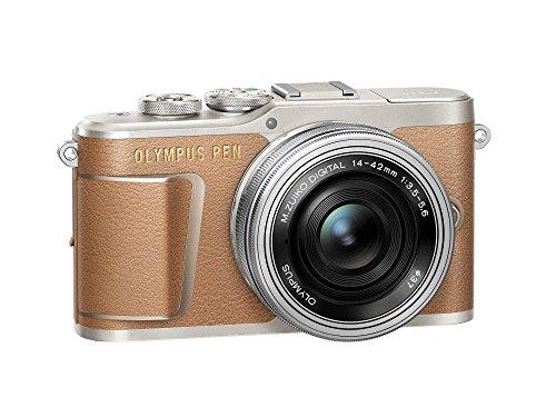 OLYMPUSミラーレス一眼カメラPENE-PL9レンズキットブラウン