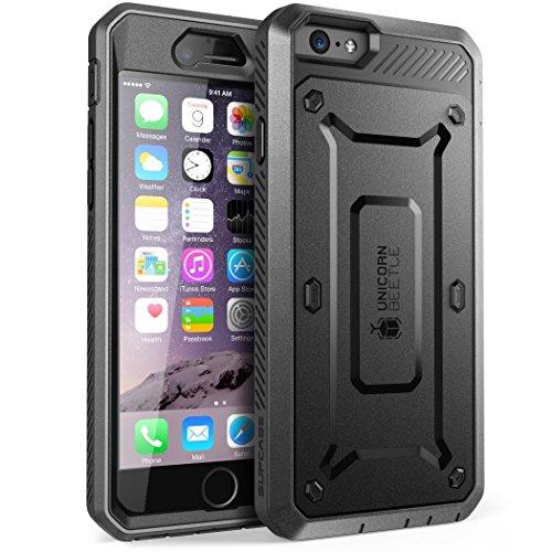 SUPCASE Cover iPhone 6s Plus Cover iPhone 6 Plus, Custodia Rigida a 360 gradi con Clip e Protezione Schermo Integrata [Unicorn Beetle Pro] Rugged Case per iPhone 6 Plus / iPhone 6S Plus, Nero