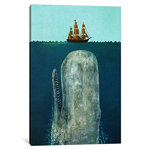 iCanvasART 1 Piece The Whale Canvas Print by Terry Fan, 18 x...