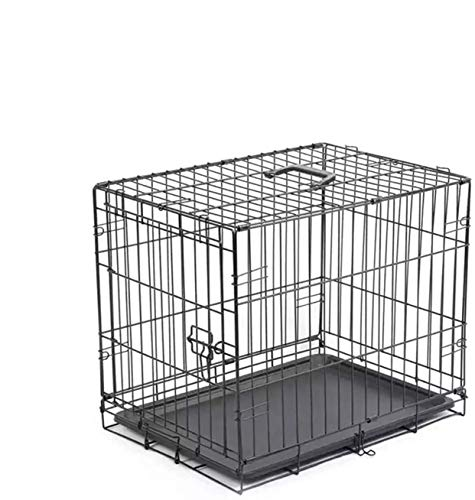 PETSWORLD Double Door Dog Crate, Folding Metal Dog or Pet Crate Kennel, Size: 22 inch w/Divider Basic Crates