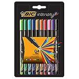 Caneta Bic Intensity com Ponta Porosa 0.4mm Colors 10 cores - Blister com 10 Unidade(s)
