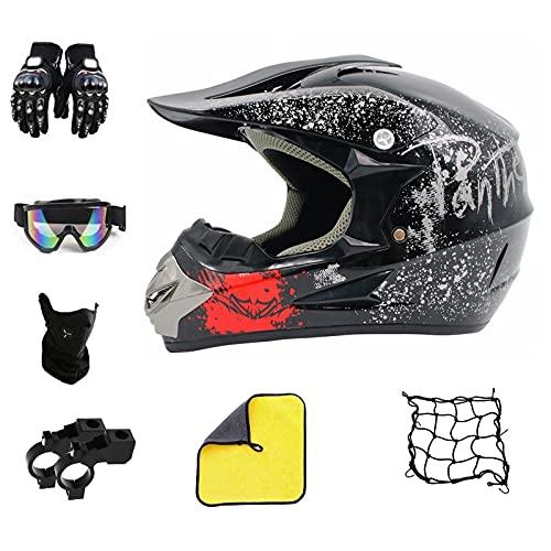 Casco de motocross infantil para moto de cross, MTB, quad, bicicleta, color...