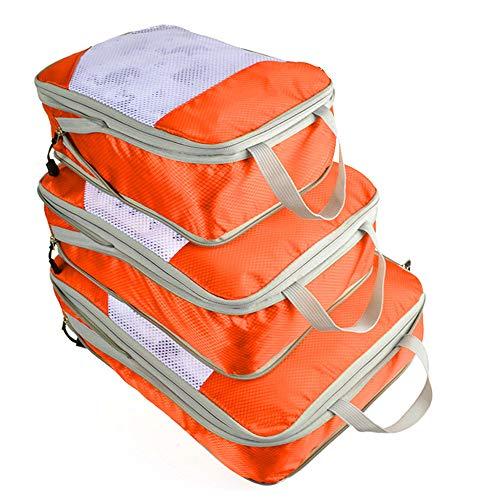 kroeus(クロース)アレンジケース 圧縮可能 3点セット トラベルポーチ 衣類収納 靴バッグ 旅行用 省スペースタイプ 収納バッグ