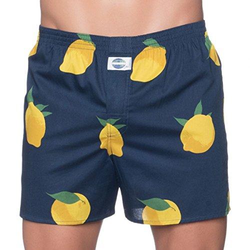 D.E.A.L International Boxershorts Dunkelblau mit Zitronen Größe S