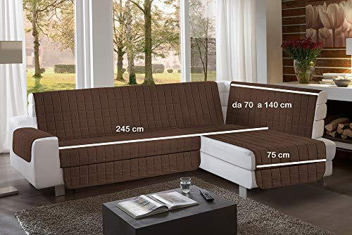 la biancheria di casa Simplicity Plus Angle Copri Salva Divano per divani ad Angolo (245 cm, Marrone)