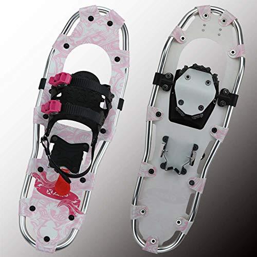 GWSPORT Raqueta De Nieve para Adultos, Aleación De Aluminio Ligera, Todos Los Zapatos De Nieve Aterrizados con Fijaciones Ajustables para Deportes De Invierno, Senderismo