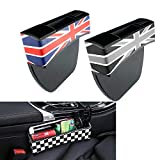 QIDIAN Asiento de coche Grieta Caja de almacenamiento Gap Organizar para Mini Cooper S ONE JCW R56 R55 R50 R53 R60 F56 F55 F54 F60 Clubman Countryman