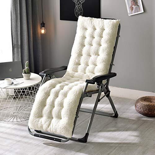 BLSTY 12cm Verdikke stoelkussen, zitkussen, EPE-schuim, wasbaar, verstelbaar rugkussen voor ruststoel schommelstoel mat 50x160Cm(20x63Zoll) beige
