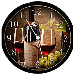 Krazy Klockz Glow in The Dark Wall Clock - Wine Glasses & Grapes #6