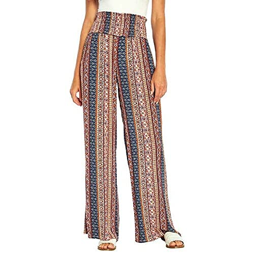 Three Dots Ladies' Printed Pant Item 1501414 (Ornamental Stripe, L)