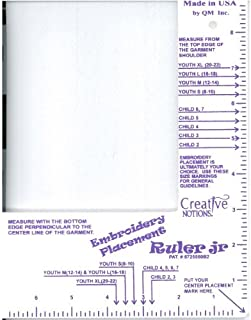 creative notions embroidery placement ruler