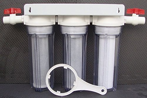 "10"" Whole House all Clear 3 stage filtration water system 3/4"" port / thread"