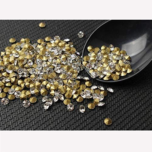 PENVEAT 100/300 / 500pcs TAMAÑO DE Mezcla Shinny Crystal/AB Piedras de Cristal con Punta Puntiaguda para la fabricación de Joyas de uñas, Adornos de Ropa, Cristal, tamaño de Mezcla de 3-6 mm