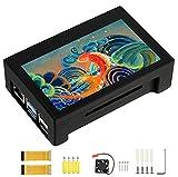 4.3 Zoll DSI LCD Bildschirm mit Hülle für Raspberry Pi 4B / 3B+ / 3B, 800×480 IPS Display Kapazitives Touch Bildschirm, Unterstützt Raspbian/Ubuntu/Kali / WIN10 IoT
