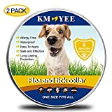 KMOYEE Collar for Dogs, 8 Months Treatment and Prevention,100% Natural Ingredients, Waterproof, Adjustable