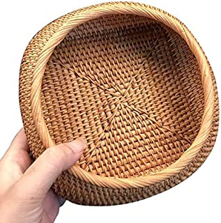 Bread basket Rattan Fruit And Vegetable Storage Hand-Woven Storage Basket Bread Basket Snack Gift Basket Dry Small Basket ...