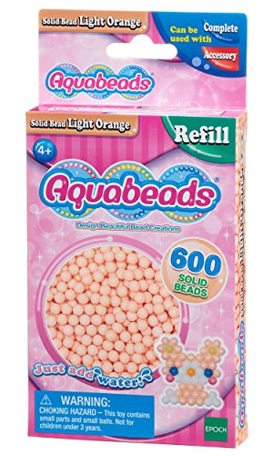Aquabeads 32618 Hellorangene Perlen (Hautfarbe) - Nachfüllset