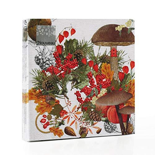 Tovaglioli di carta monouso, Frutti di bosco, 20 pezzi 3 strati - 33 x 33