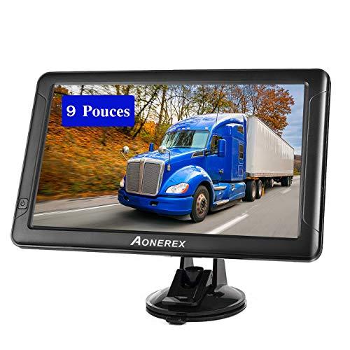 Navegador GPS de 9 pulgadas para coche, 8 GB con pantalla táctil HD multilenguaje para coche, camión, peso pesado, último mapas de Reino Unido, actualización gratuita para toda la vida