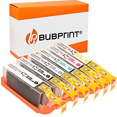 6 Bubprint Cartucce d'inchiostro compatibili per Canon PGI-570 CLI-571 XL per Pixma MG7700 MG7750 MG7751 MG7752 MG7753 TS8000 TS8020 TS8040 TS8050 TS8051 TS8052 TS8053 TS9000 TS9050 TS9055 Multipack