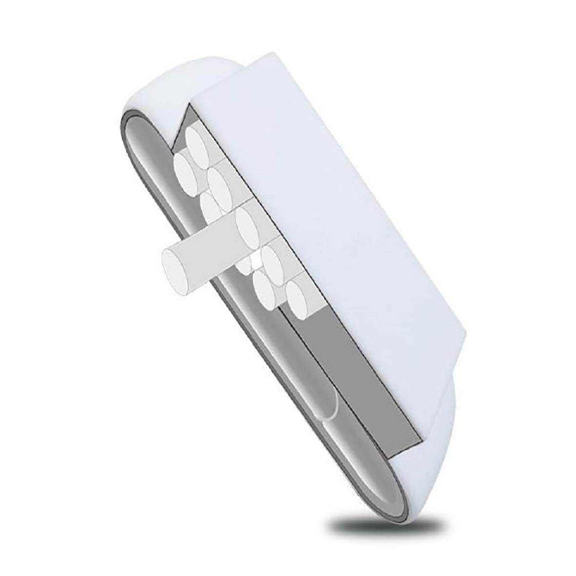 インデックス大事にするヒューバートハドソンアイコス カバー IQOS3 カートリッジ一体型 シリコン カバー ケース 保護 収納 軽量 耐衝撃 アイコス 3.0 まとめて収納 (ホワイト)