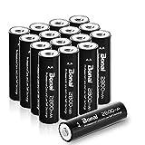 BONAI Akku AA wiederaufladbare Batterien hohe Kapazität 2800mAh AA NI-MH