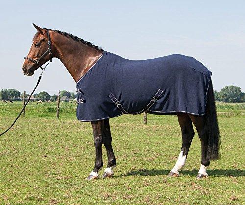 Harry's Horse Fleecedeken Deluxe zonder Hals, Farbe:Navy, Größe:175cm