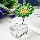 HUANSUN Crystal Sunflower Dreams Ornament Decoración del hogar Navidad/Regalo de cumpleaños Colección Souvenir, China