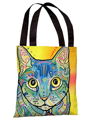 One Bella Casa 71860TT18P 18 in. Vintage Maya Polyester Tote Bag by Dean Russo