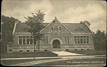 The Lithgow Library Augusta, Maine Original Vintage Postcard