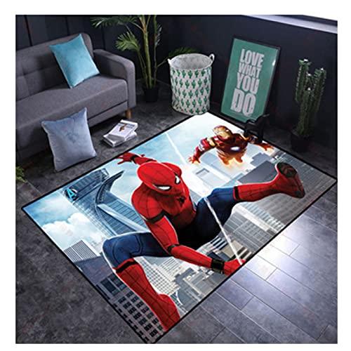 Tapis Rectangulaire Paillasson Chambre Salon Table Basse Espace Chambre des Enfants Table De Chevet Dessin Animé Spiderman Cuisine Salle De Bains Antidérapant