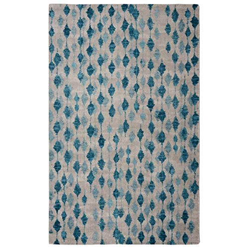 Rugsmith Pendant Modern Area Rug, 5'6″ x 8'6″, Blue