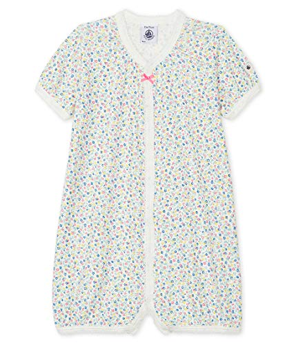Petit Bateau Mädchen 5499501 Jumpsuit, Mehrfarbig (Marshmallow/Multico Bfq), 6-12 Monate (Herstellergröße: 12Monate)