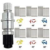 AFUNTA Soporte de cuchilla compatible CB09 CB09U Graphtec con 30 piezas (30/45/60 grados) cortador de vinilo plotter hojas de corte Silhouette Cameo