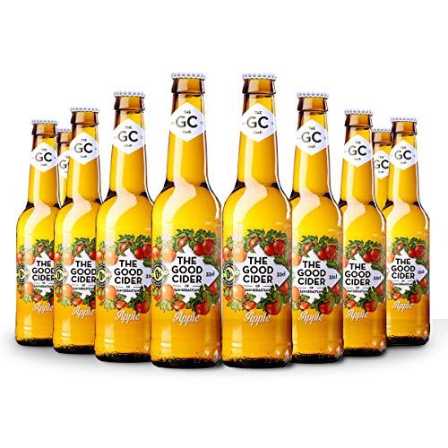 The Good Cider Apple 0% - Sidra sin alcohol de manzana, Sidra Natural de Sabores – Caja 12 botellas x 33 cl