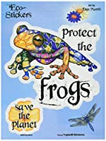 Dan Morris - Morris Art Protect The Frogs & EARTH Window ステッカー Sticker Decal - 6'' x 8' - Skateboard Vinyl DieCut - Weather Resistant, Long Lasting for Any Surface
