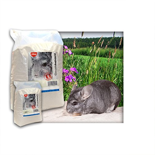 10 kg Premium Chinchilla Badesand Chinchillasand - Made in Germany - samtweiche abgerundete Körnung