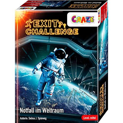 CRAZE EXIT Challenge-Spiel -Notfall im Weltraum- Escape Game ab 8 Jahren, Level: Mittel, Bis zu 6 Spieler, 29343