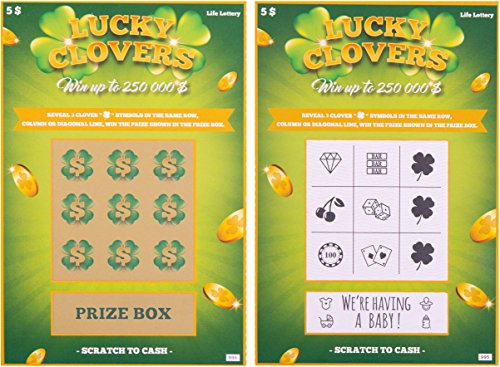 5 Pregnancy Announcement Scratch Off Cards | Baby Announcement Fake Lottery...